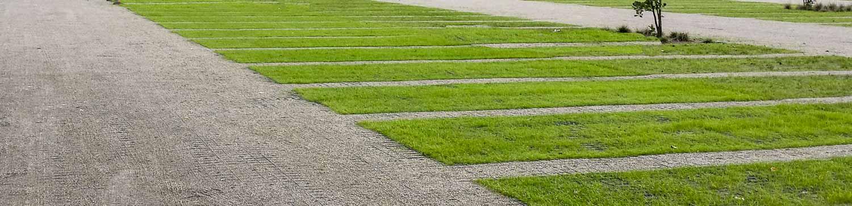 Permeabel bærelag brugt på parkeringsplads