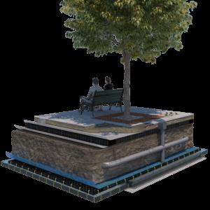 Arborraft m. kapillær vanding
